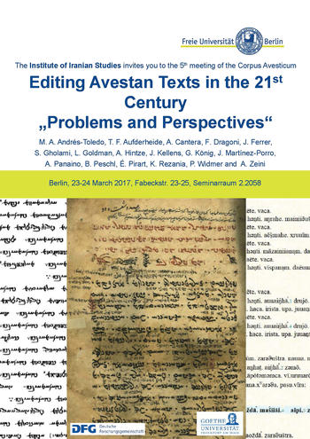 23-24.03.17_Editing the Avestan texts in the 21th century