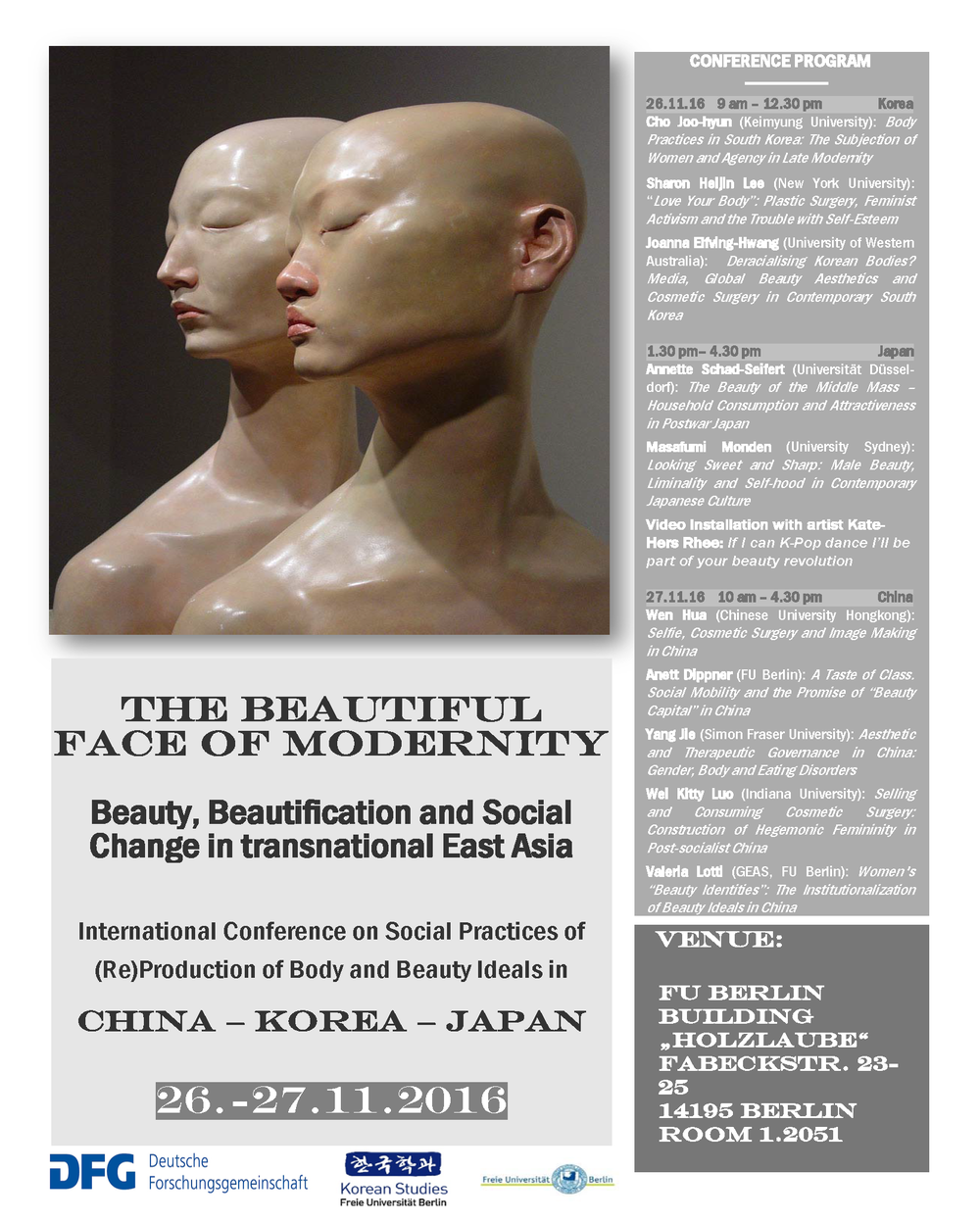 The beautiful face of modernity poster