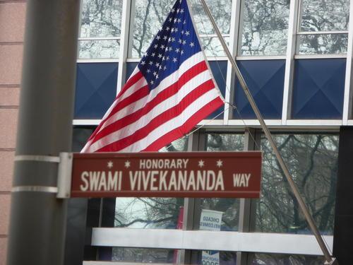 Honorary Swami Vivekananda Way sign